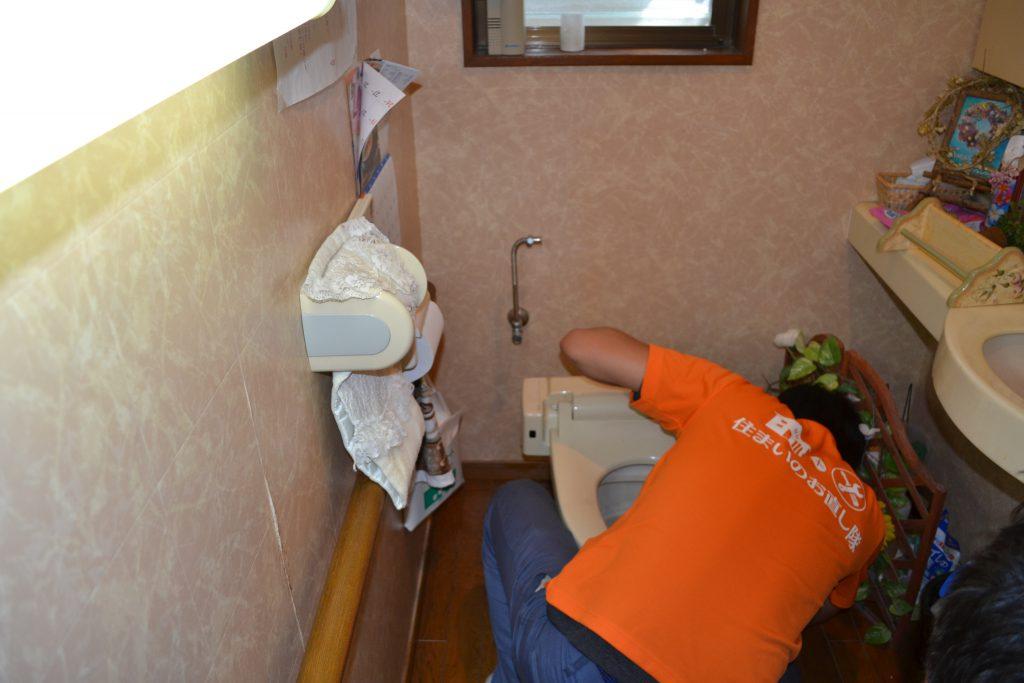 宮崎市 リフォーム トイレ 施工中