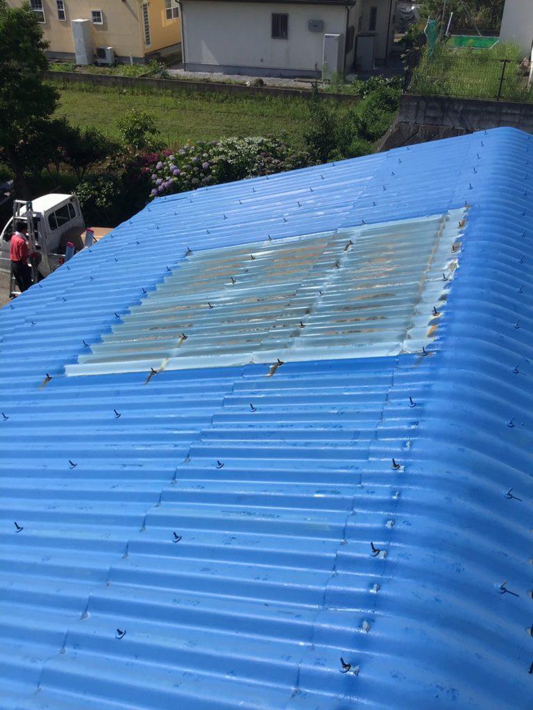 太陽熱温水器撤去後