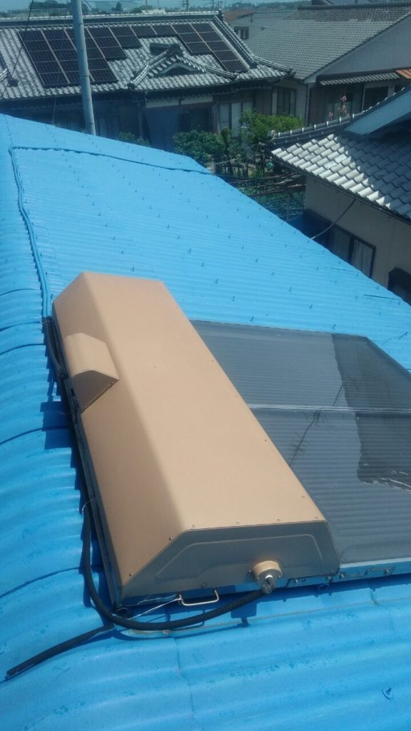太陽熱温水器撤去前