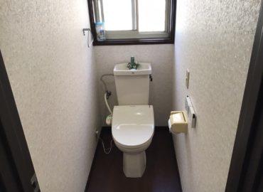 宮崎市のトイレ・洗面所のクロス貼替