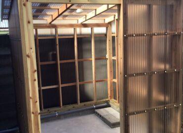 宮崎市の洗濯機設置(屋外)屋根工事